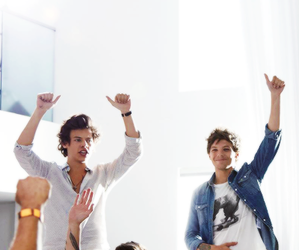 one direction, larry, and louis tomlinson image