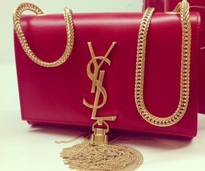 red, YSL, and bag image