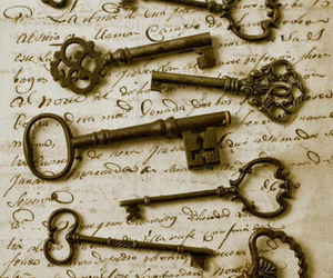 key, vintage, and old image