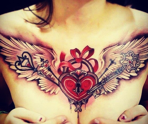 delicate, hearts, and Tattoos image