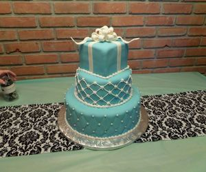 baby blue, birthday cake, and blue image
