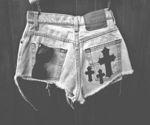 fashion, shorts, and cross image