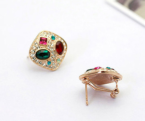 earrings, fashion, and elegant jewelry image