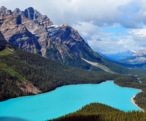 lake, blue, and canada image