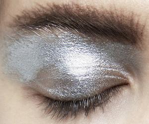 silver, makeup, and eyeshadow image