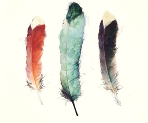 feather, art, and hipster image