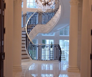 luxury, house, and staircase image