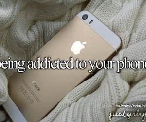 phone, iphone, and addicted image