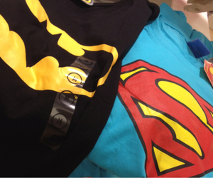 batman, superman, and t-shirts image