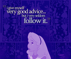 quote, advice, and alice image