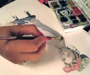 fashion sketch, PROCESS, and paperfashion image
