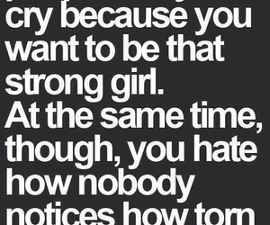quotes, strong, and cry image