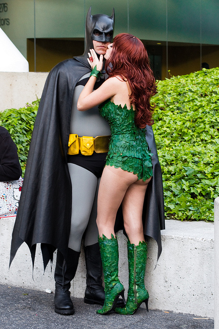 & Wondercon 2011: batman and poison ivy on We Heart It