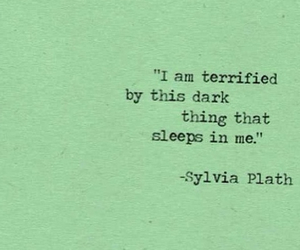 quote, dark, and sylvia plath image