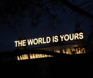 world, light, and quote image