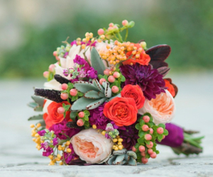 bouquet, fall, and succulents image