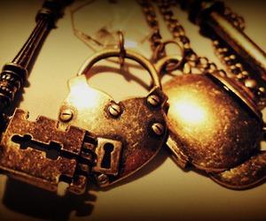 fashion, gold, and keys image