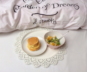 bed, breakfast, and FRUiTS image