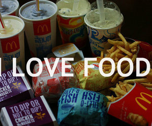 food, love, and mc donalds image
