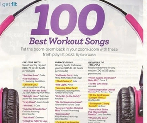 workout, song, and fitness image