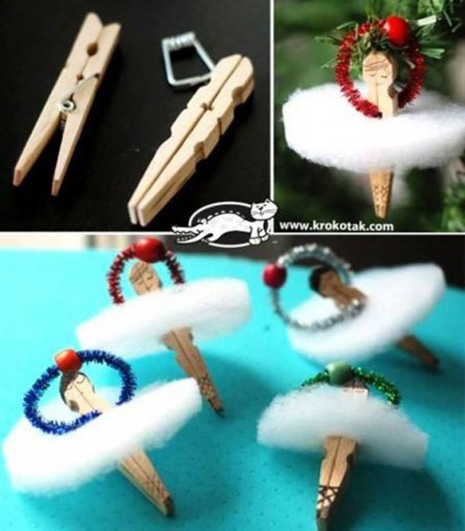 How To Make Adorable Clothes Pin Ballerina Ornaments Step By