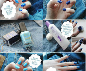 blue, nail art, and steps image
