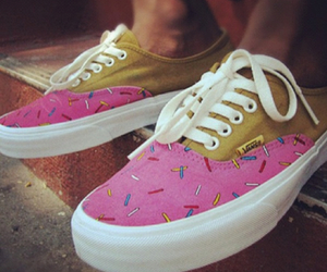 vans, donuts, and shoes image