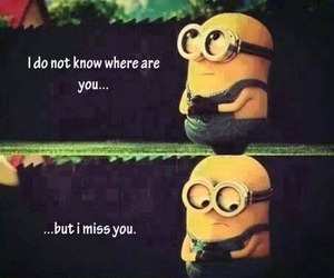 minions, miss you, and love image
