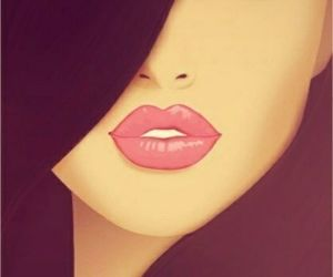 lips, eyes, and art image