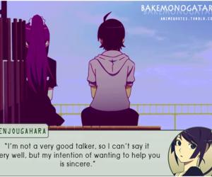 bakemonogatari, anime, and quote image