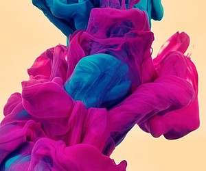blue, art, and pink image
