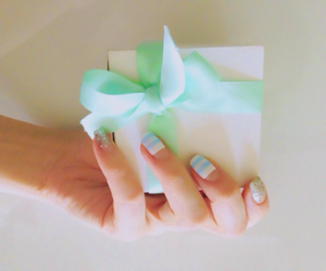 gift, nail, and nail art image