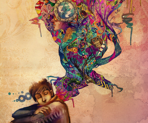 art, boy, and colors image