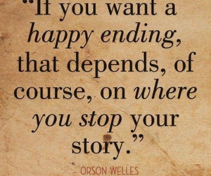 quote, story, and happy ending image