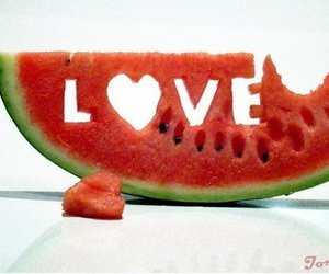 fruit, heart, and melon image
