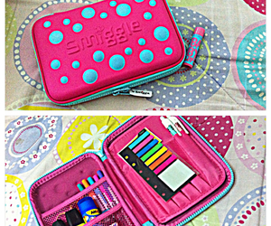 school, pink, and baby lips image