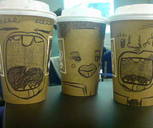 art, coffee, and fiends image