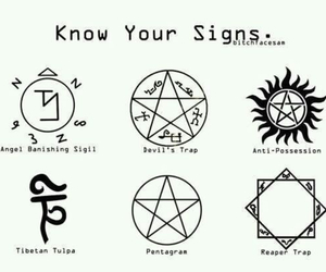 supernatural, sign, and pentagram image