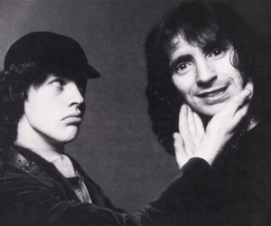 angus young, ac dc, and bon scott image
