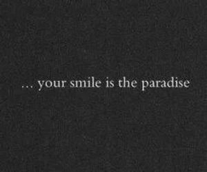 paradise, smile, and text image