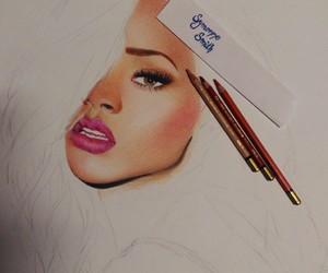 draw, drawing, and rihanna image