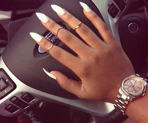 nails, car, and white image