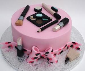 cake, make up, and pastel image