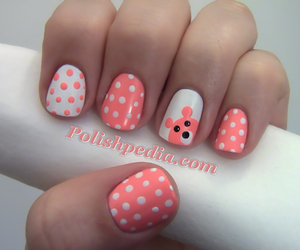 nails, pink, and white image