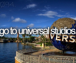 bucket list, universal studios, and universal image