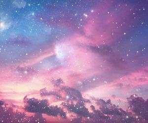 sky, stars, and galaxy image