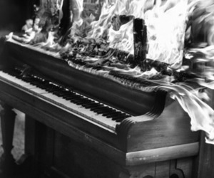 piano and fire image
