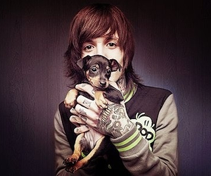 dog, oliver sykes, and bmth image