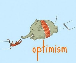 optimism, elephant, and monkey image