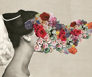 flowers, art, and vintage image